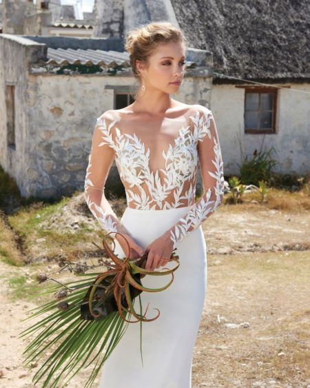 Tina Bodysuit from the Elbeth Gillis Arniston Blue 2019 Bridal Collection