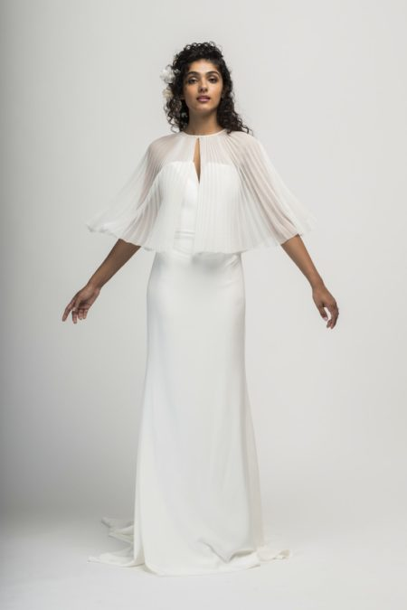 Venice Bridal Capelet from the Alexandra Grecco Cloud Nine 2019 Bridal Collection