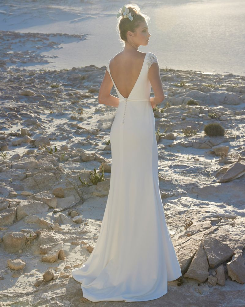 Back of Victoria Wedding Dress from the Elbeth Gillis Luminescence 2019 Bridal Collection