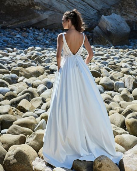 Back of Violette Wedding Dress from the Elbeth Gillis Luminescence 2019 Bridal Collection