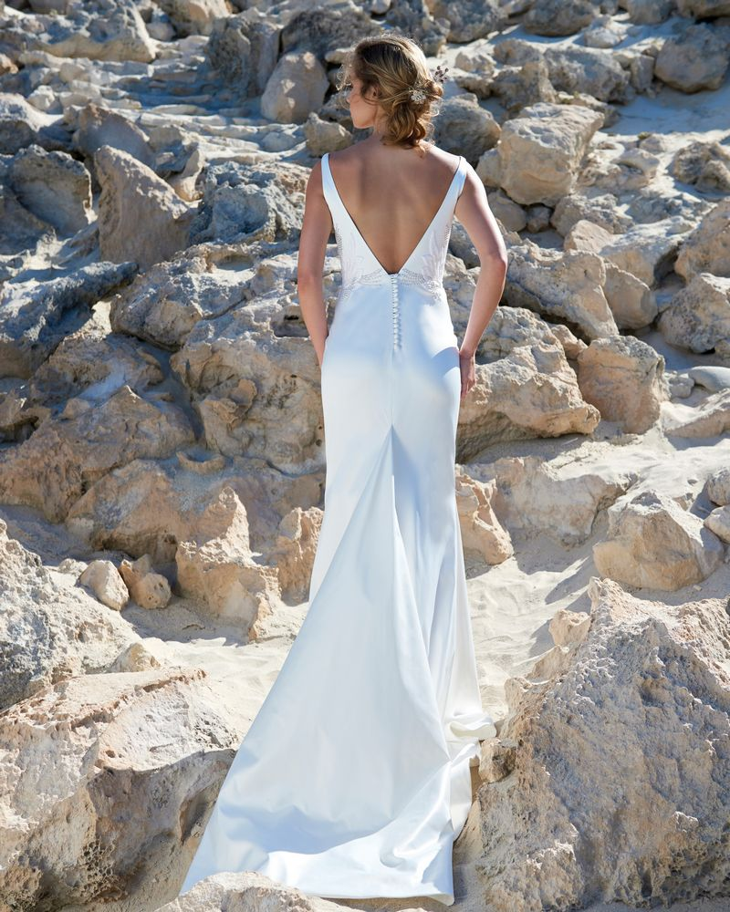 Back of Zoe Wedding Dress from the Elbeth Gillis Luminescence 2019 Bridal Collection