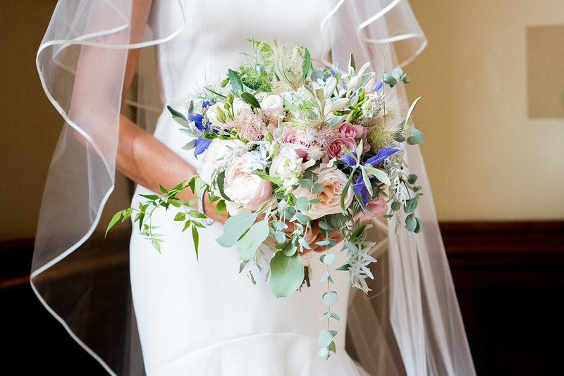 Bride's bouquet of garden flowers