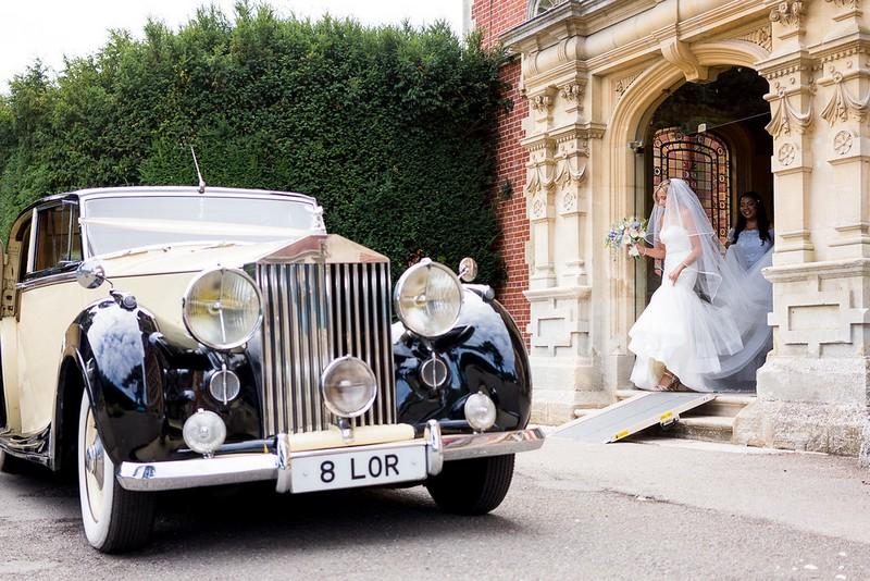 Vintage Rolls Royce wedding car