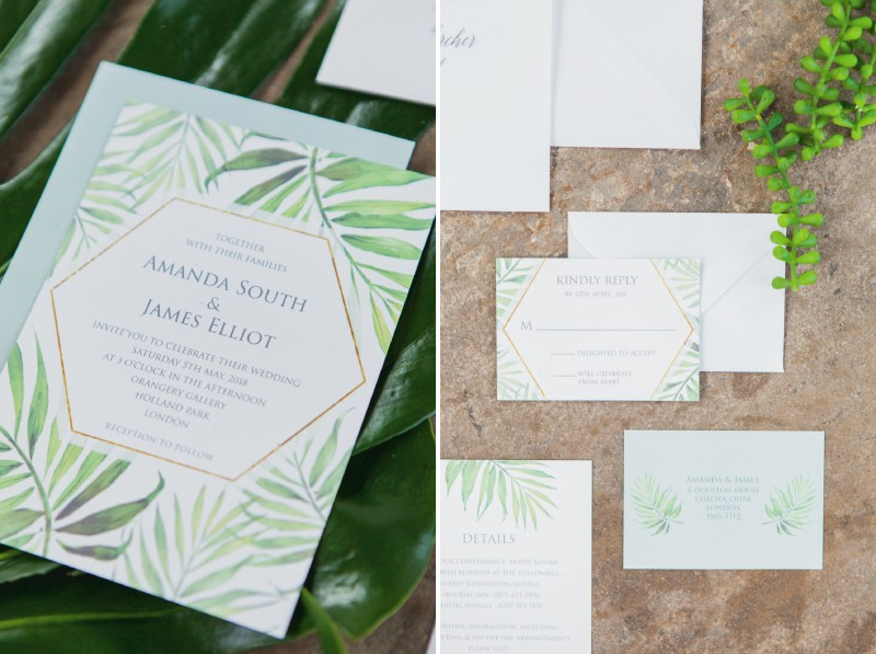 Coco Palm stationery by Flamboyant Invites