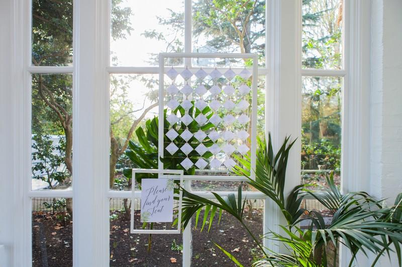 Escort card wedding seating plan