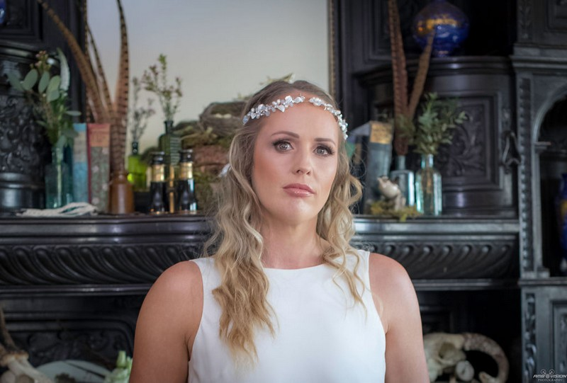 Bride with headband