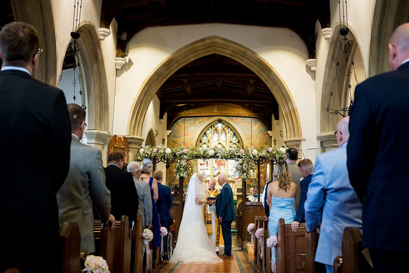 Wedding ceremony in St Peter and St Paul's Church