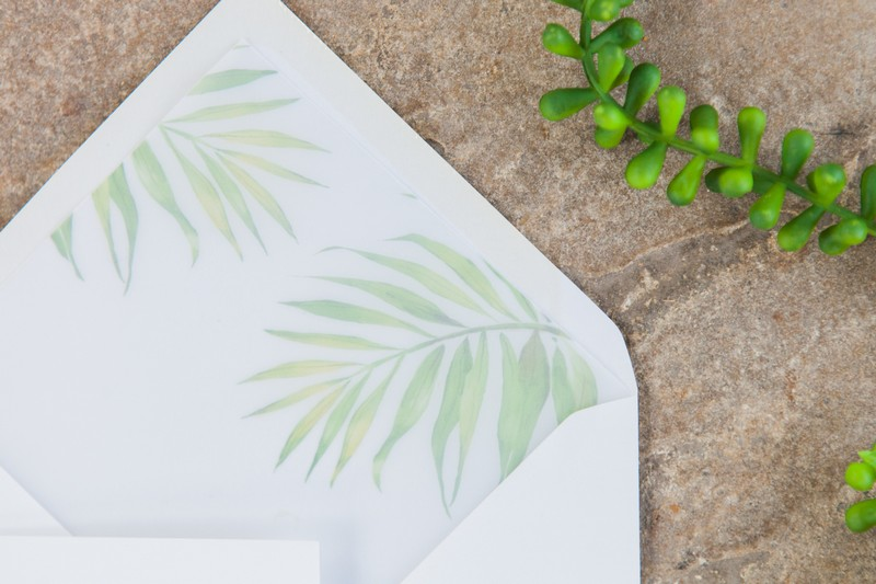 Palm leaf envelope liner