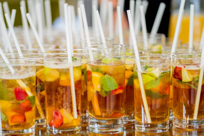 Glasses of Pimm's
