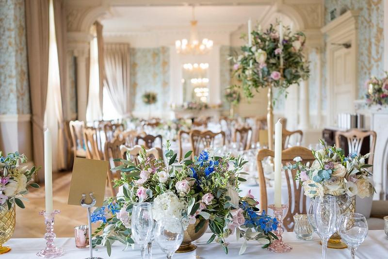 Wedding tables in Pendley Manor