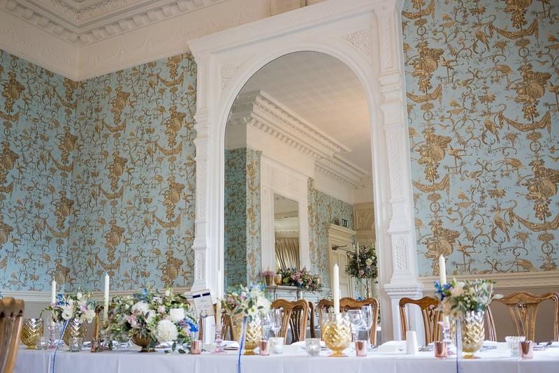Wedding top table at Pendley Manor