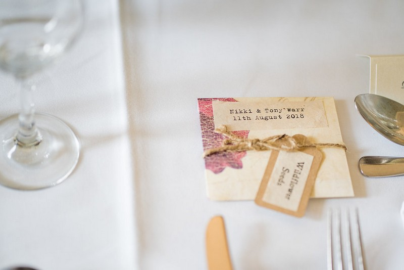 Packet of seeds as wedding favour