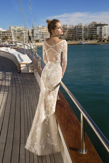 Back of DR248 Wedding Dress from the Demetrios Destination Romance 2019 Bridal Collection
