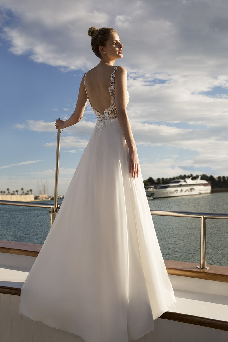 Back of DR251 Wedding Dress from the Demetrios Destination Romance 2019 Bridal Collection