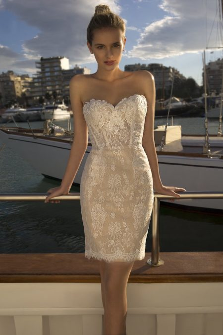 Detail on DR256 Wedding Dress from the Demetrios Destination Romance 2019 Bridal Collection