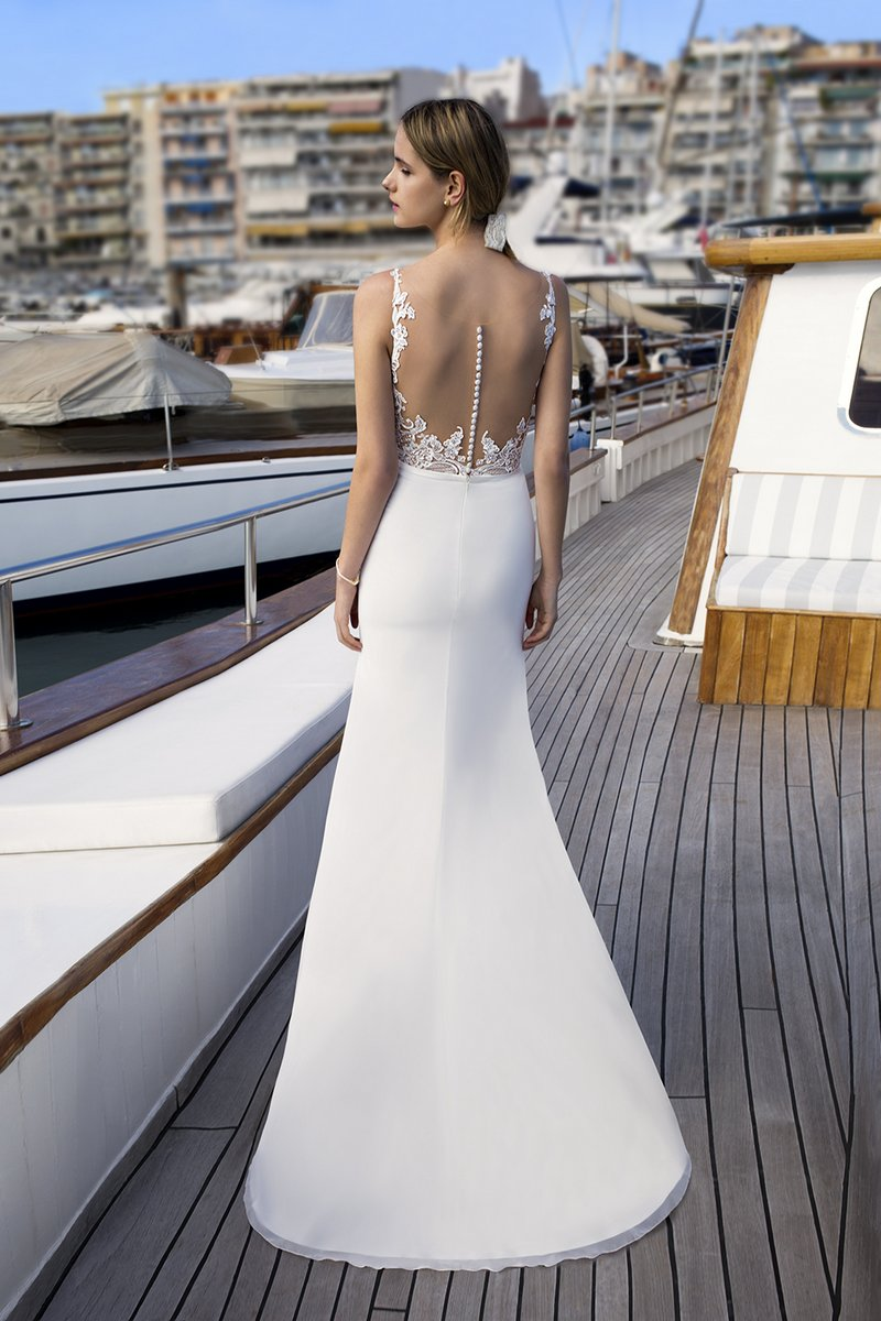 Back of DR257 Wedding Dress from the Demetrios Destination Romance 2019 Bridal Collection