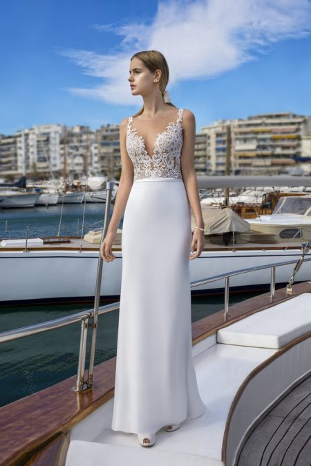 DR257 Wedding Dress from the Demetrios Destination Romance 2019 Bridal Collection