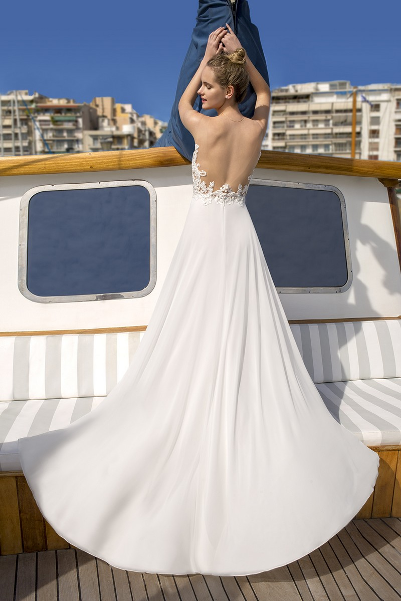 Back of DR259 Wedding Dress from the Demetrios Destination Romance 2019 Bridal Collection