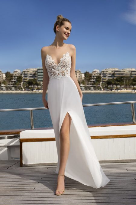 DR259 Wedding Dress from the Demetrios Destination Romance 2019 Bridal Collection