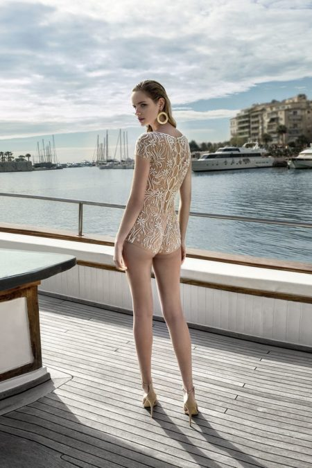 Back of DR273T Bodysuit from the Demetrios Destination Romance 2019 Bridal Collection
