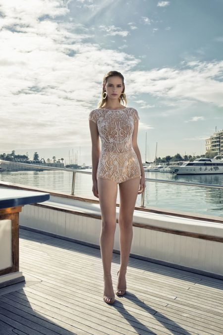 DR273T Bodysuit from the Demetrios Destination Romance 2019 Bridal Collection