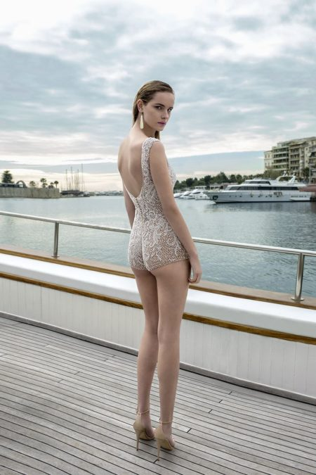 Back of DR281T Bodysuit from the Demetrios Destination Romance 2019 Bridal Collection