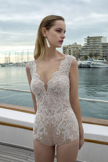 DR281T Bodysuit from the Demetrios Destination Romance 2019 Bridal Collection