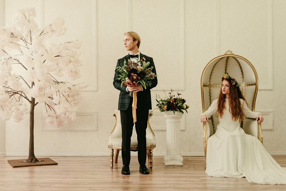 Wes Anderson Inspired Opulent Autumn Wedding Styling