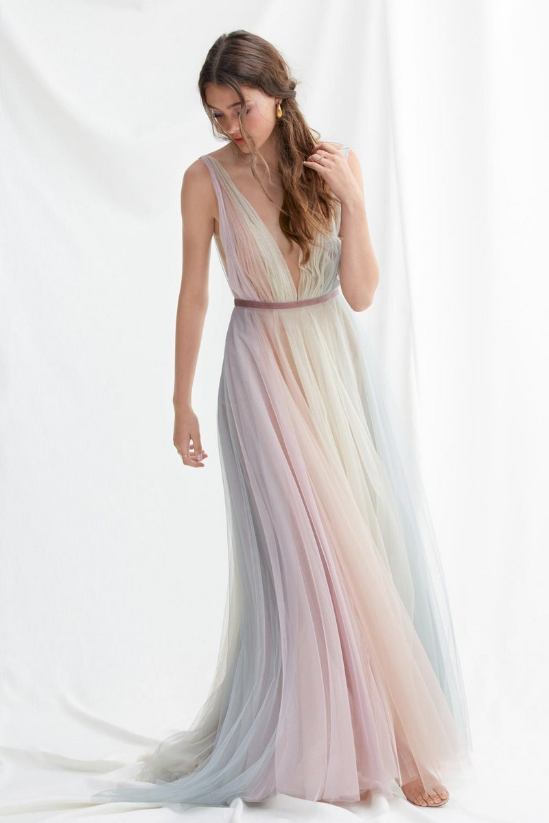 Hutton Rainbow Tulle Wedding Dress by Willowby