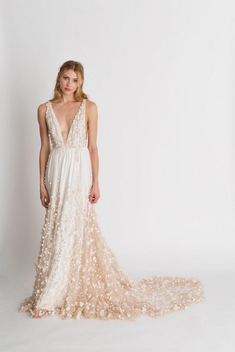 Iris Floral Wedding Dress by Alexandra Grecco