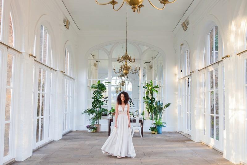 Bride in Holland Park Orangery