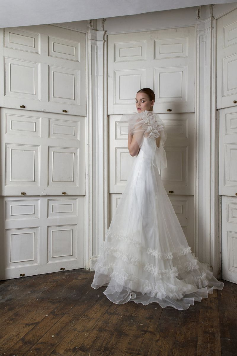 Mayfair Ruffled Wedding Dress by Halfpenny London