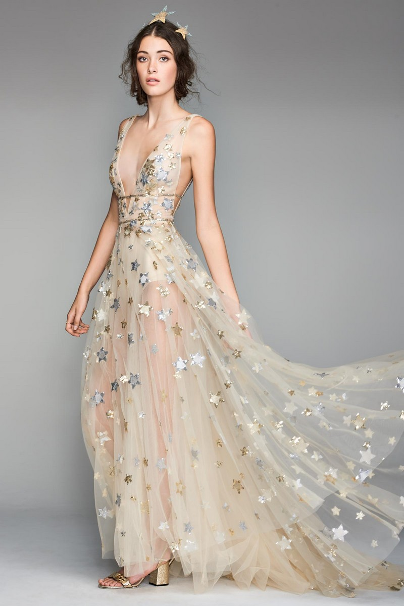 Orion Wedding Dress with Stars by Willowby