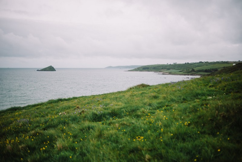 View of the sea from Devon coastline