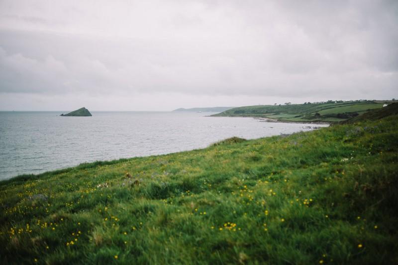 View of the sea from Devon coastline