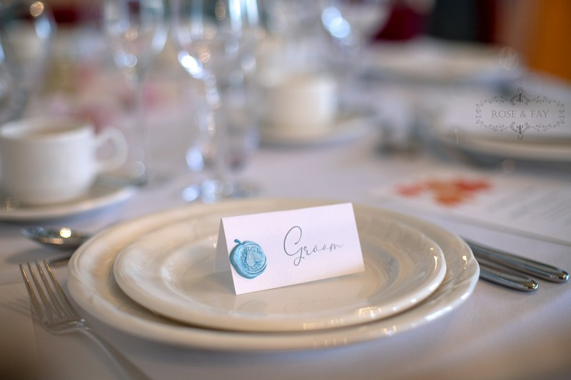 Groom wedding place card