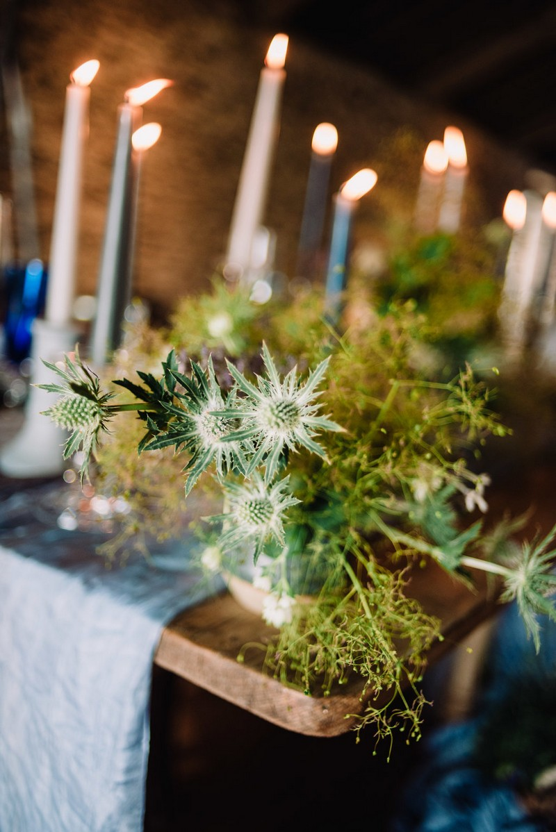 Wild plant on wedding table