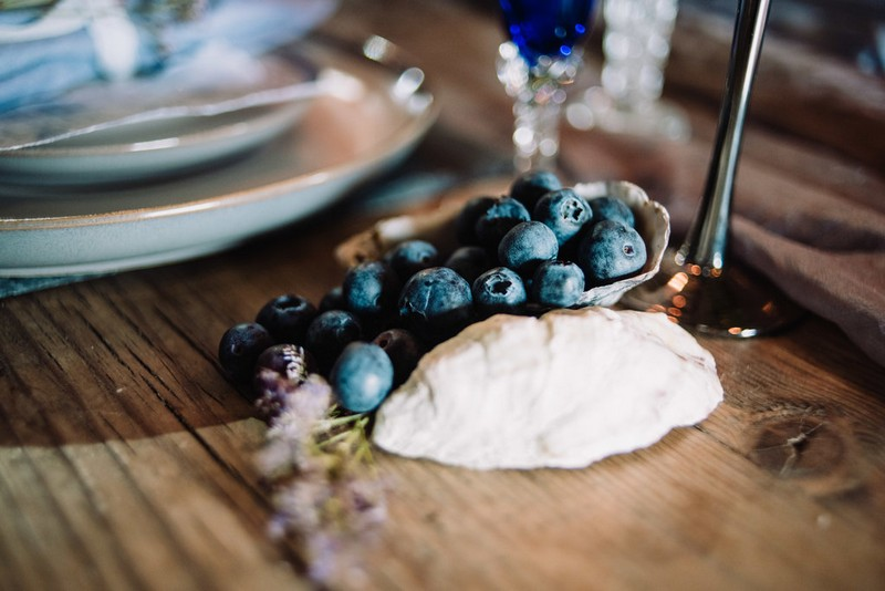 Blueberries on wedding table