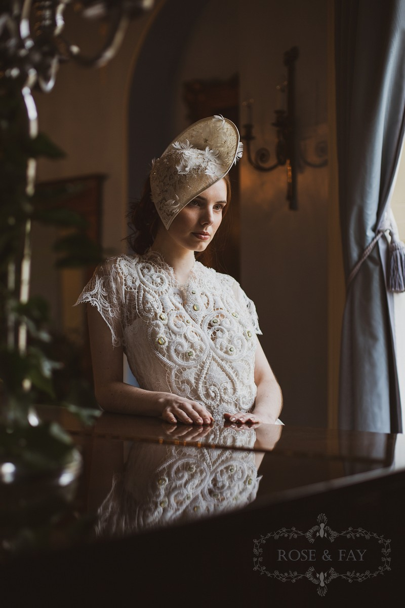 Bride wearing hat