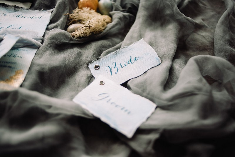 Rustic bride and groom tags