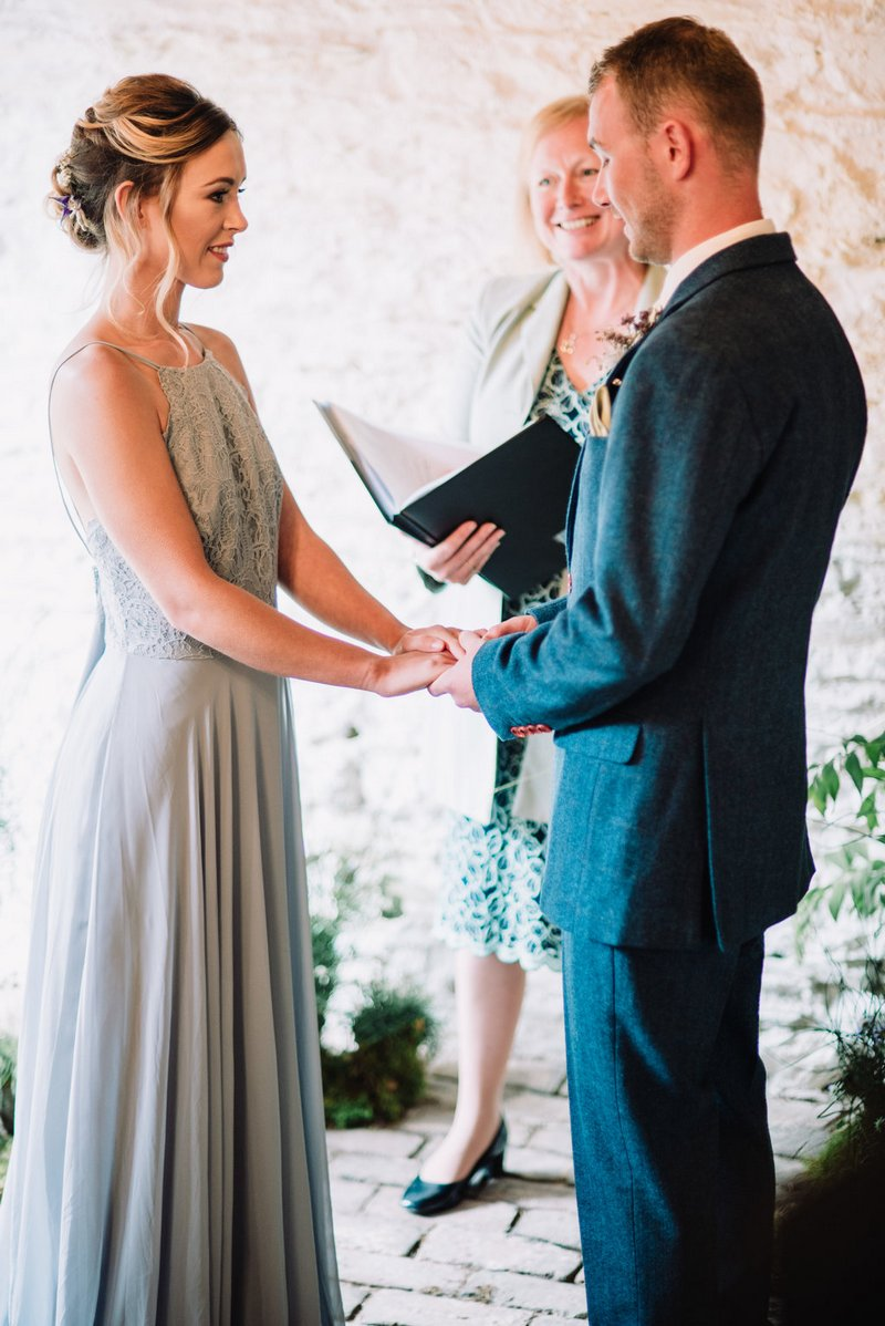 Elopement ceremony at New Barton Barns