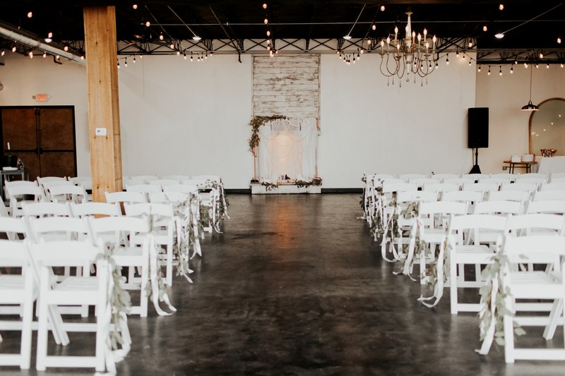 Wedding ceremony seating in Events on Main