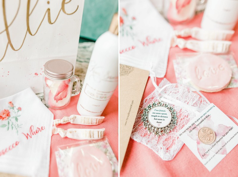 Assorted bridal shower gifts