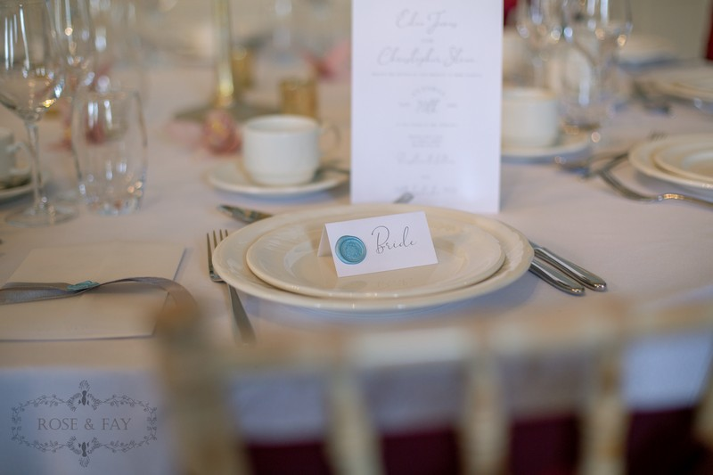Wedding name place card