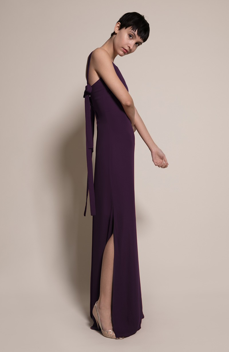 Berlin Bridesmaid Dress in Blackcurrant from the Rewritten SS19 Collection