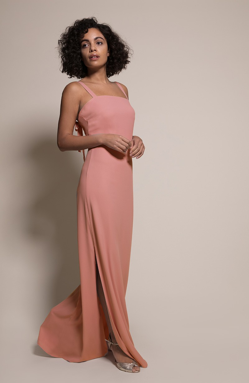 Berlin Bridesmaid Dress in Coral from the Rewritten SS19 Collection