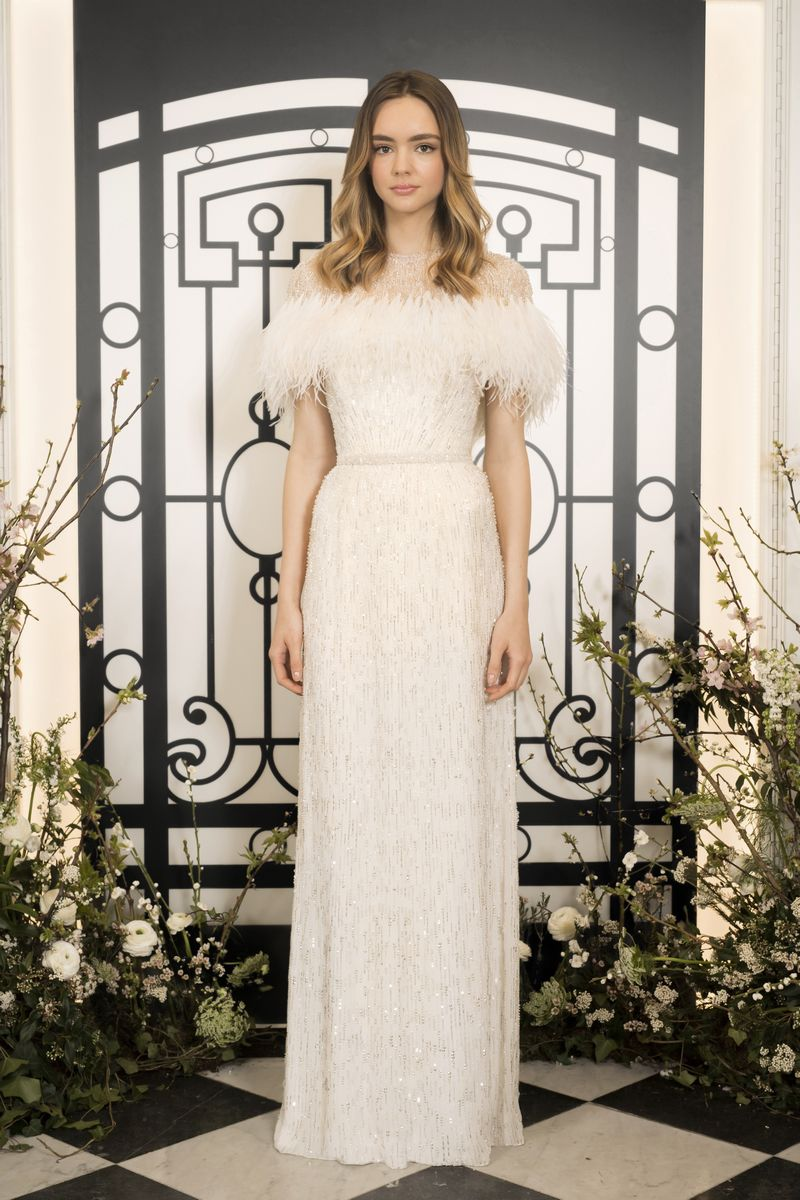 Bianca Wedding Dress with Jagger Shrug from the Jenny Packham 2020 Bridal Collection
