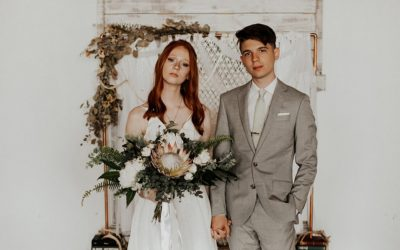 A Retro DIY Wedding with Copper Accents