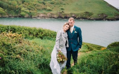 Coastal Woodland Elopement Styling in Blue and Grey