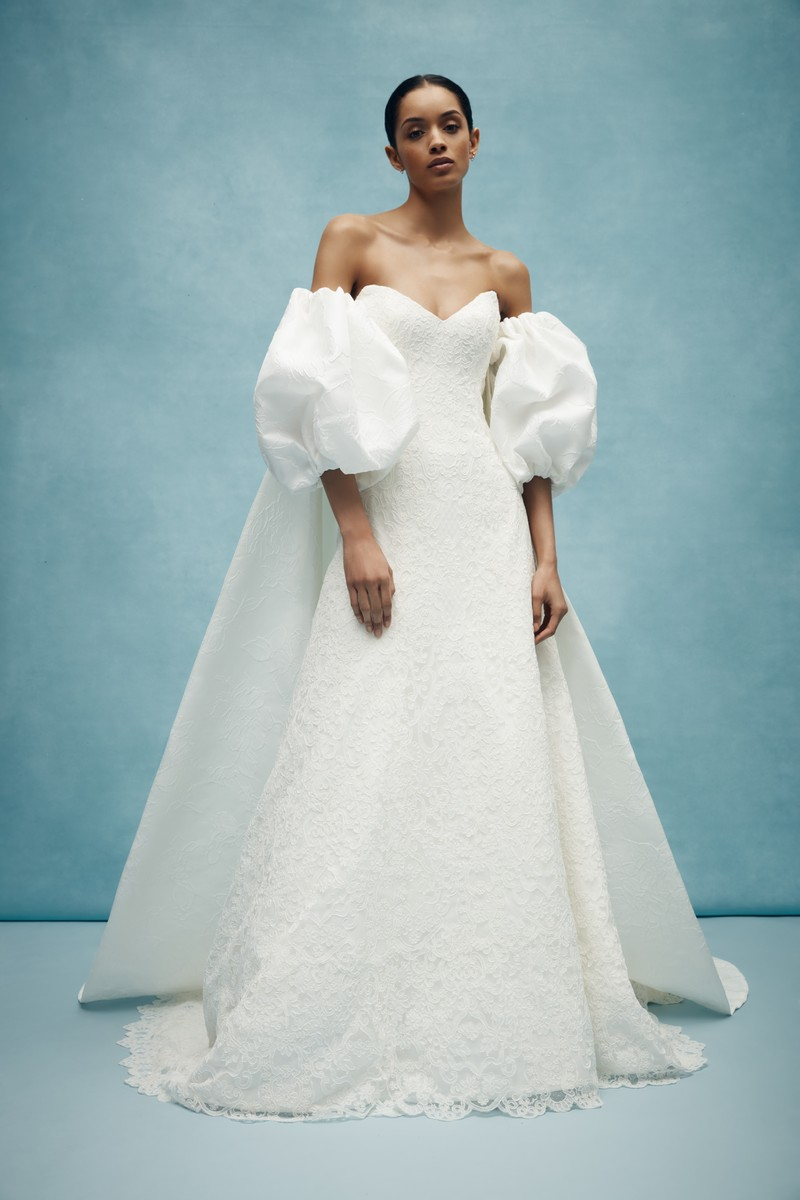 Griffin Cape from the Anne Barge Spring 2020 Bridal Collection